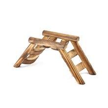 Игрушка для хомяка золотой Шелковый медведь лестница птиц деревянная