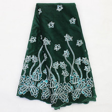Sequin Velvet Lace-Fabric Material Nigerian-Dress Bestway-Lace African High-Quality Embroidery