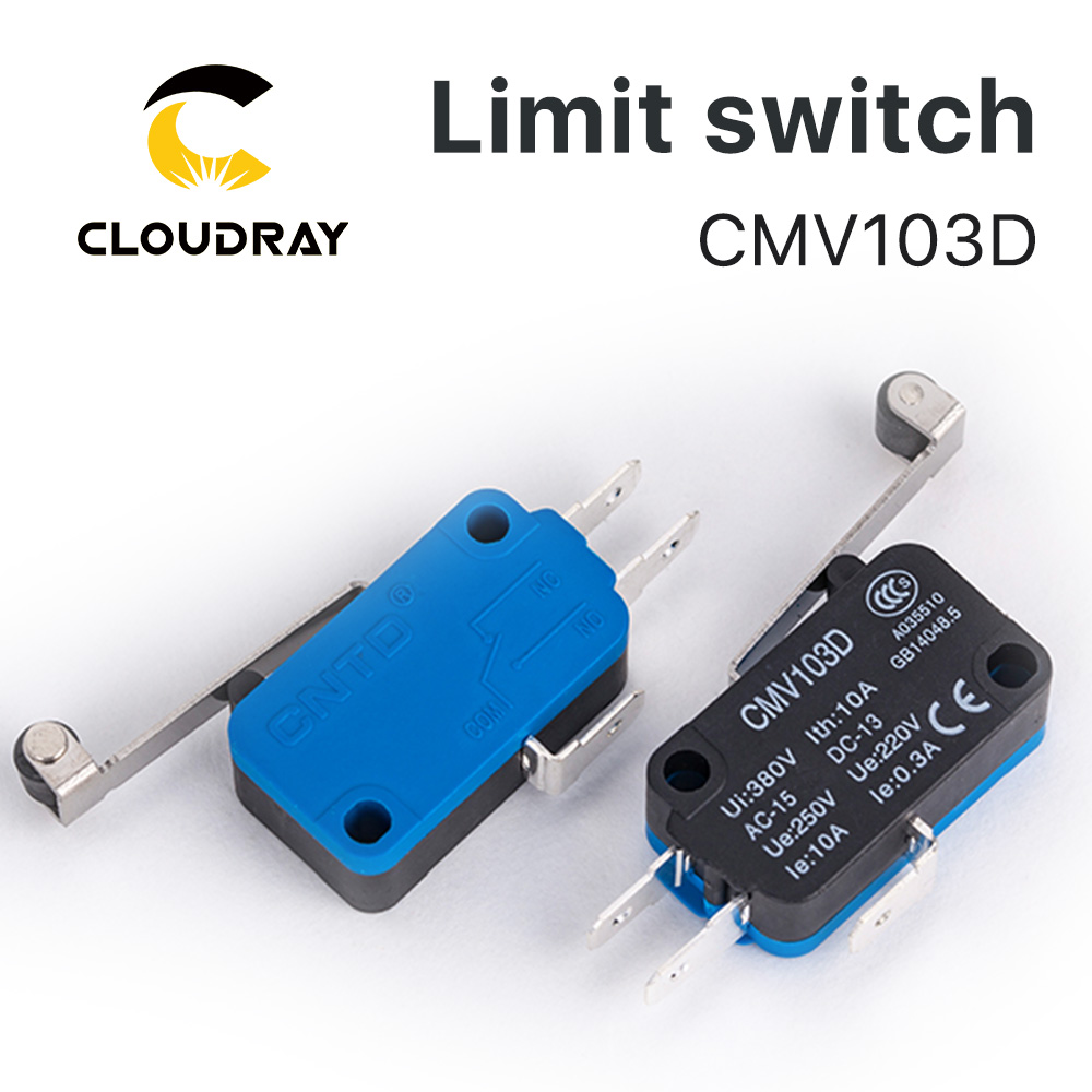 Cloudray High Quality Small Limit Switch CMV103D Momentary Micro Switch Long Handle for CO2 Laser Cutting machine(China)