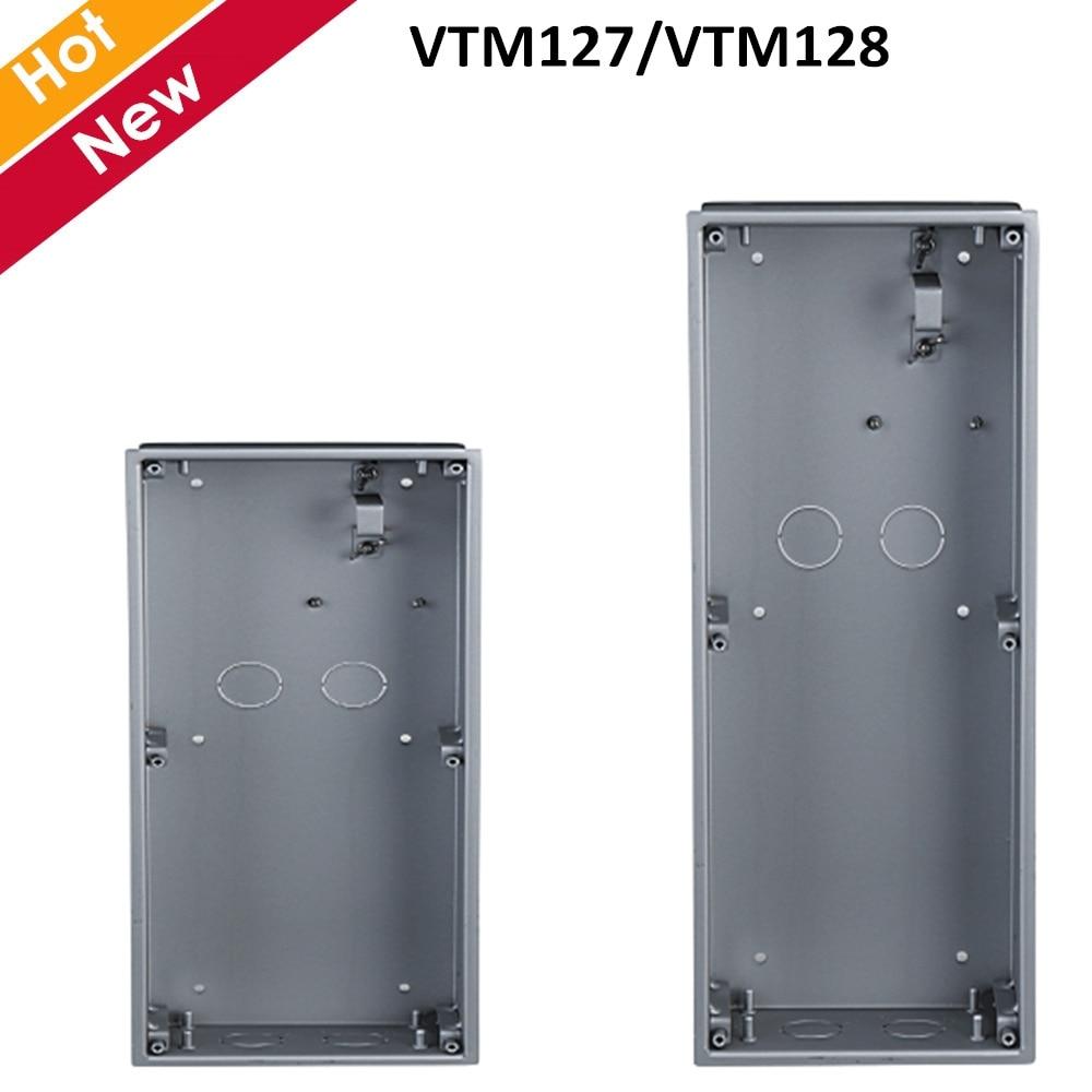 Dahua VTM127 VTM128 Panel Mount Box Silver Color Aluminum Material Intercom Accessory
