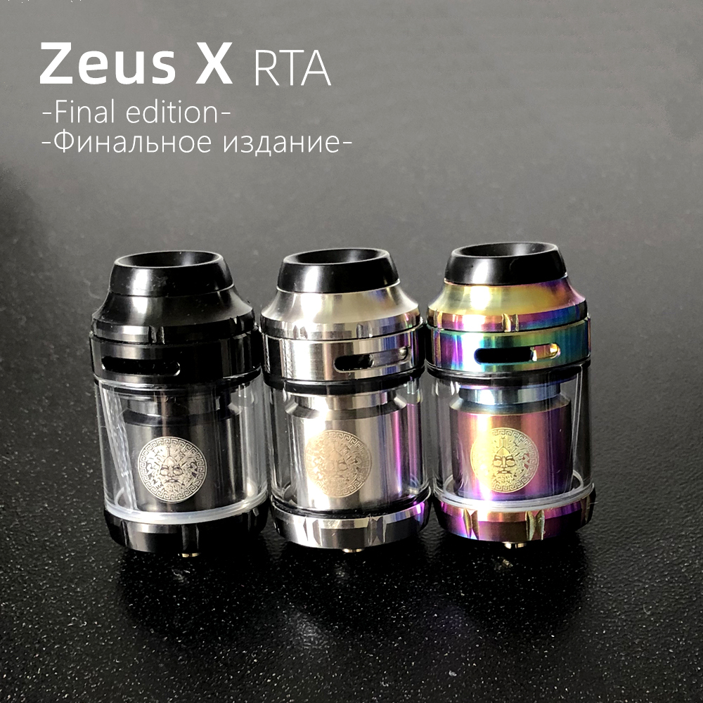 25mm Zeus X RTA 3.5ml 4.5ml Tank RBA GTA Electronic Cigarette Mods Vape Tank RTA 22mm 24mm Vaper Atomizer For Vape Mod