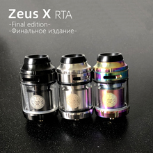 25mm Zeus X RTA 3.5ml 4.5ml tank RBA GTA Electronic cigarette Mods Vape Tank RTA 22mm 24mm Vaper atomizer for Vape mod original ijoy avenger 270 234w tc kit with avenger tank voice control mod with 20700 battery 6000mah vape e cigarette avenger