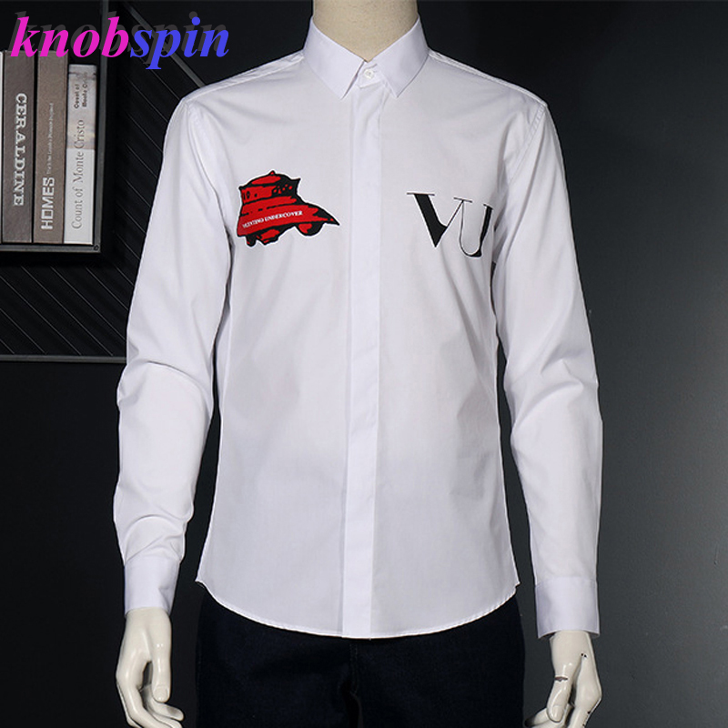 Brand Design Men's Fall Long Sleeve Shirt Casual Slim Business Male Dress Shirts High Quality Cotton Camsias Masculina Plus Size