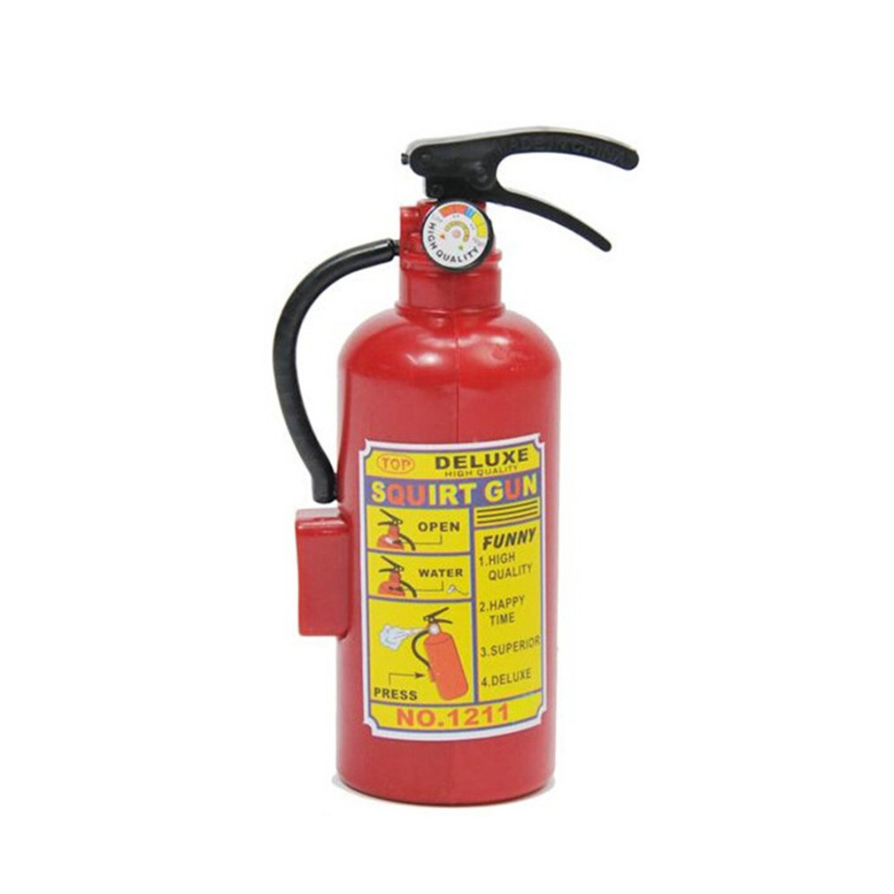 Fire Extinguisher Toy Plastic DIY Water Gun Mini Spray Kids Exercise Toys
