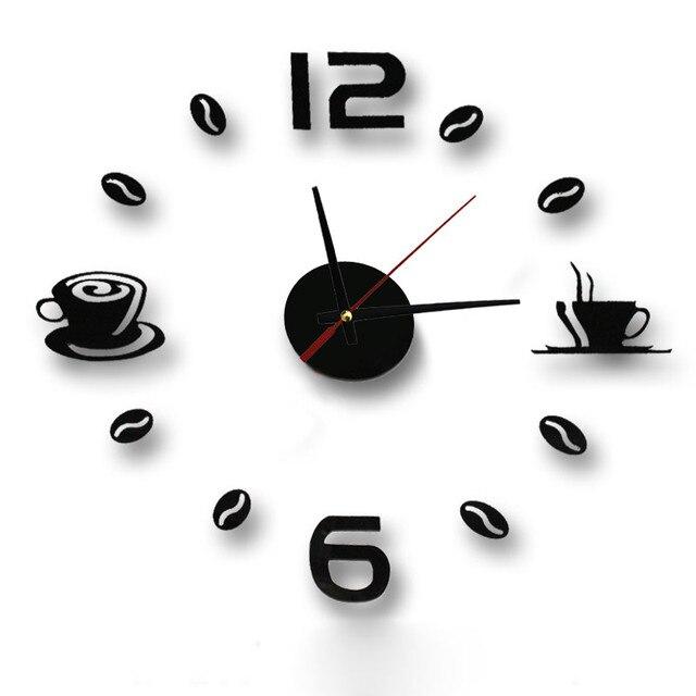 New Hot Clock Watch Wall Clocks Horloge 3d Diy Acrylic Mirror Stickers Home Decoration Living Room Quartz Needle reloj de pared 1