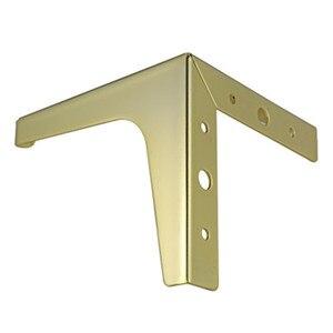 Image 2 - 4pcs Ferramenteria e attrezzi Mobili In Metallo Gambe Quadrato In Legno Cabinet Gambe del Tavolo Oro per Divano Piede Piedi Letto Riser accessori per mobili