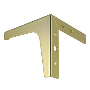 Image 2 - 4pcs ฮาร์ดแวร์เฟอร์นิเจอร์โลหะขาตู้ไม้ตารางขาทองสำหรับโซฟาฟุตฟุต Riser เฟอร์นิเจอร์อุปกรณ์เสริม