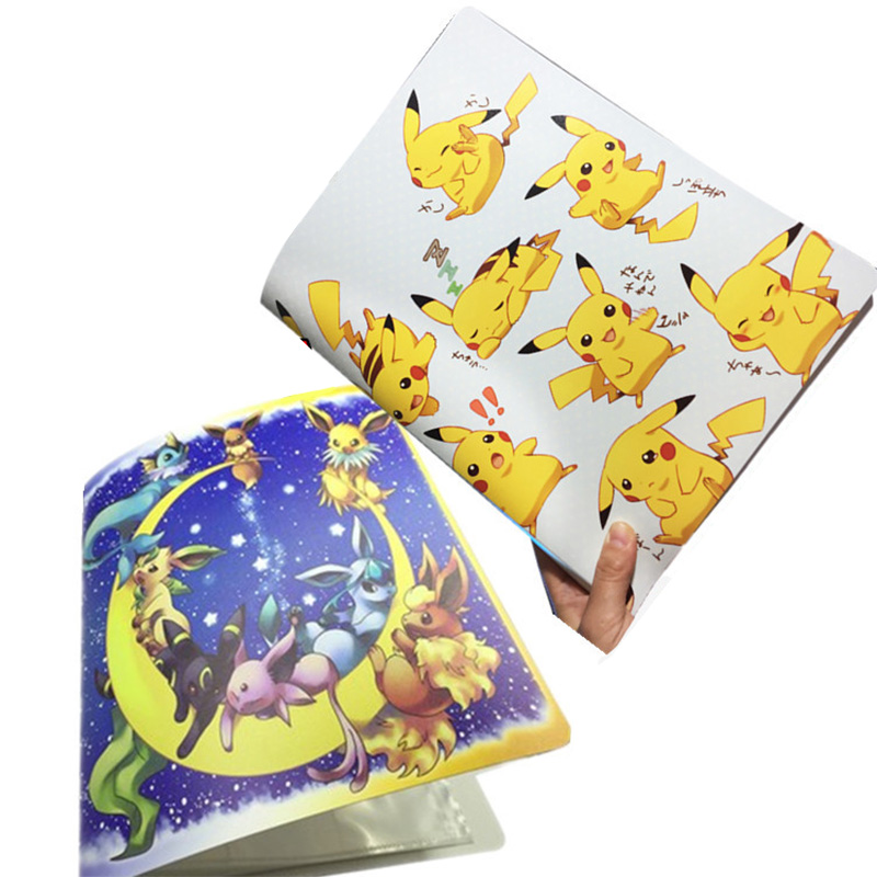 Takara Tomy Card Albums For Pokemon Card Toy Cards Collection Book Large Size Children Gifts