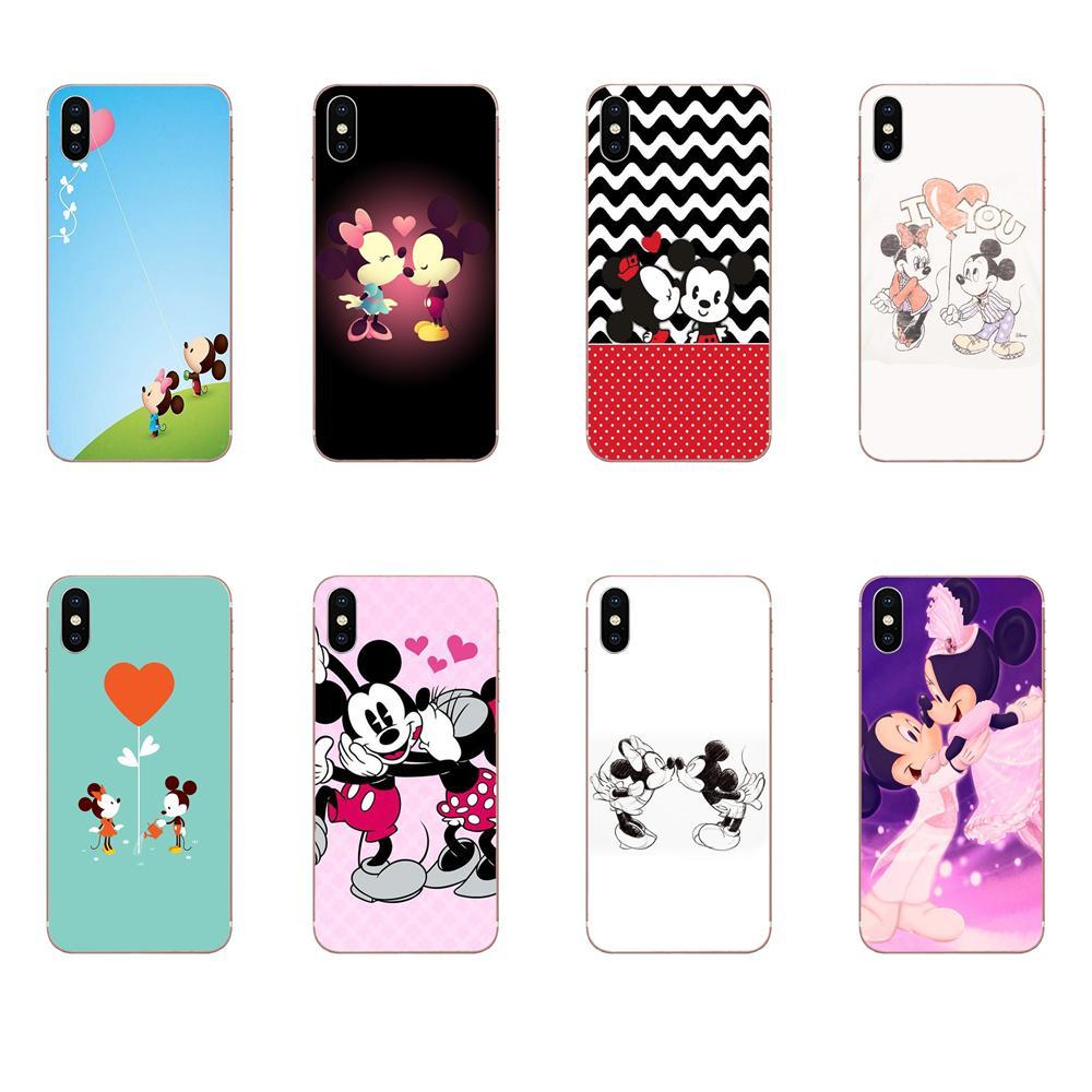 Mickey Minnie I Lonve You Hold Text Slim For HTC Desire 530 626 628 630 816 820 830 One A9 M7 M8 M9 M10 E9 U11 U12 Life Plus
