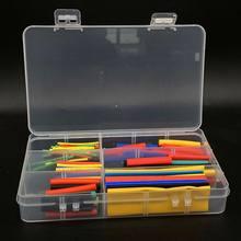 127 164/box Schrumpf Schlauch Rohr Sortiment Kit Elektrische Verbindung Elektrische Draht Wrap Kabel Wasserdichte Schrumpfung 2:1