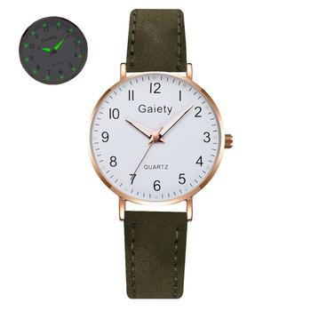 2021 NEW Women Watches Simple Vintage Small Watch Leather Strap Casual Sports Wrist Clock Dress Wristwatches Reloj mujer - G667-GN