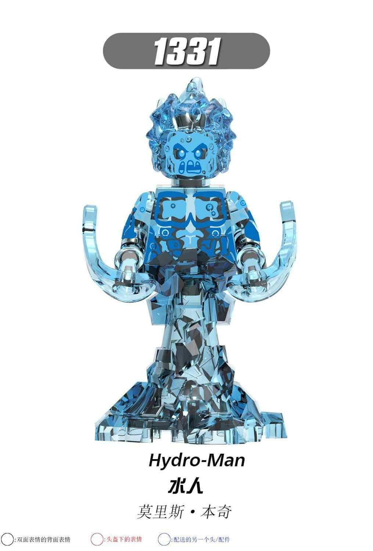 X0266 LegoING formiga AvengersING Marvel Super hero Spiderman homem Mistério água Agente de Blocos de Construção de brinquedo criança Terno