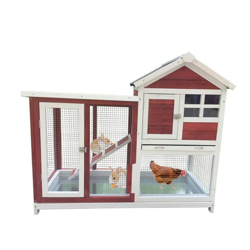 Automatic Defecation Rabbit Cage Luxury Double  Nest Pet  Pigeon  Villa  House Bird