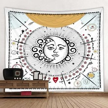 цена на Sun flower goddess background decoration cloth digital printing tapestry factory direct sales can be customized