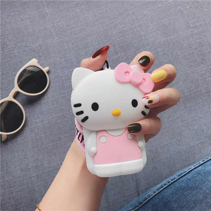 Cute Zipper кошелек Mini Coin Purses Girls Money Pouch кошелек женский Small Women Wallet Key Holder Soft Cartoon Portable Bag