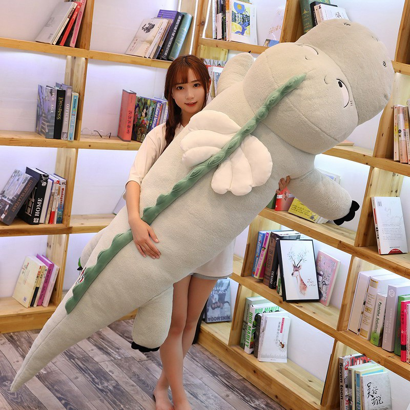 High Quality Big Dinosaur Plush Toy Soft Cartoon Animal Three Colors Dinosaur with Wing Stuffed Doll Baby Friends Birthday Gift in Stuffed Plush Animals from Toys Hobbies