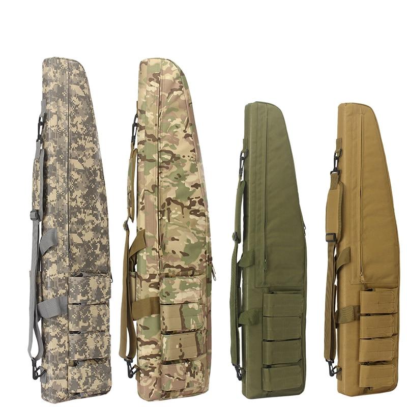 118cm Waterproof Tactical Heavy Duty Gear Long Gun Bag Airsoft Hunting Military Foam Rubber Sniper Rifle Scope Case Firearm Pack
