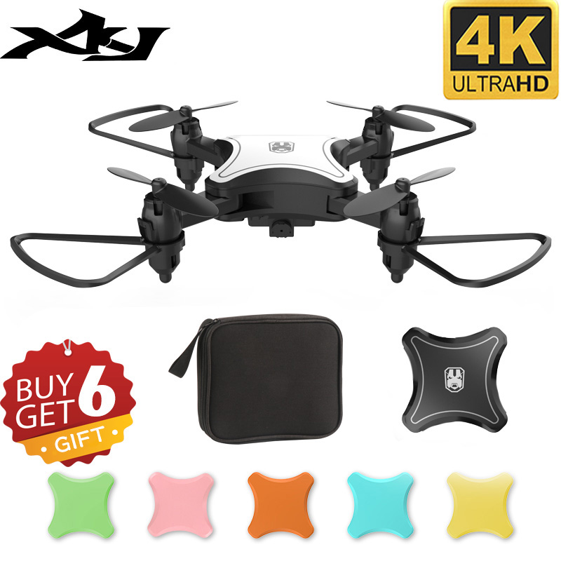 XKJ KY902 Mini Drone Quadcopter With 4K Camera HD Foldable Drones One-Key Return FPV Follow Me RC Helicopter Quadrocopter Toys
