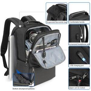 Image 3 - Tigernu New Man Backpack Waterproof Anti Theif Bagpack USB Recharging Multi layer Space Male Bag RFID Lining Travel Backpack