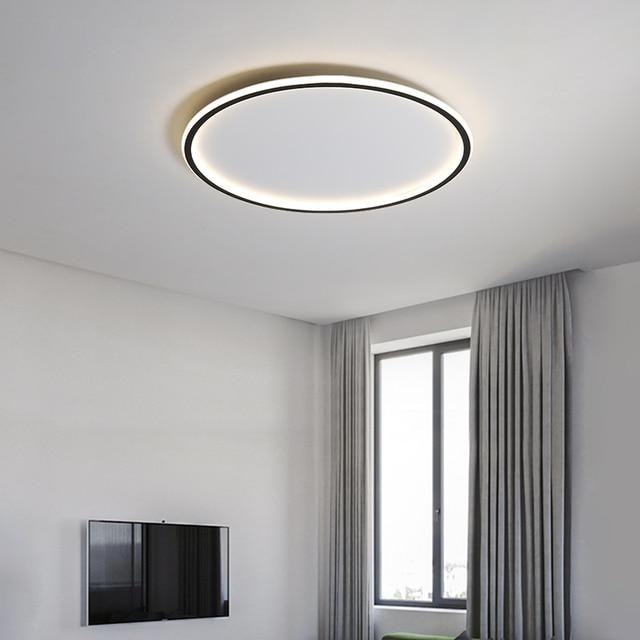 Prosta lampa sufitowa led nowoczesna ultra-cienka minimalistyczna ins Nordic okrągła lampa do salonu kreatywna lampka do sypialni lampa studyjna