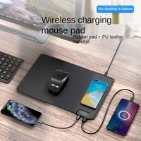 Jelly Comb-alfombrilla de ratón multifunción con carga inalámbrica, alfombrilla de ratón de escritorio de 15W, cargador inalámbrico para oficina y hogar