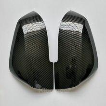 Kibowear dla BMW F30 F31 F20 F21 F22 F23 F32 (wygląd węgla) osłony lusterek czapki F33 F34 X1 E84 boczne skrzydło 1 2 3 4 zastąpić 2014
