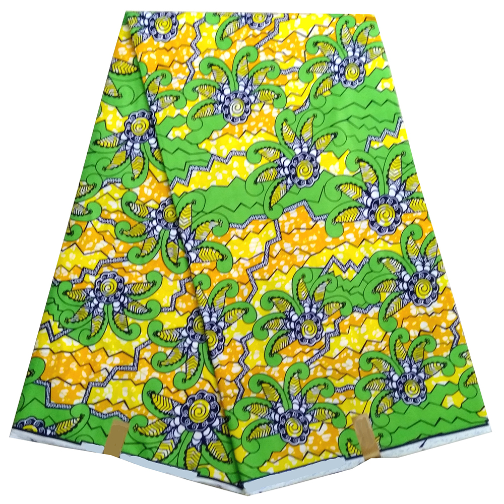 Best Quality Sewing Material For Dress  2019 New Ankara African Printing Wax Fabric Guaranteed Real Dutch Wax 100% Cotton 6yards