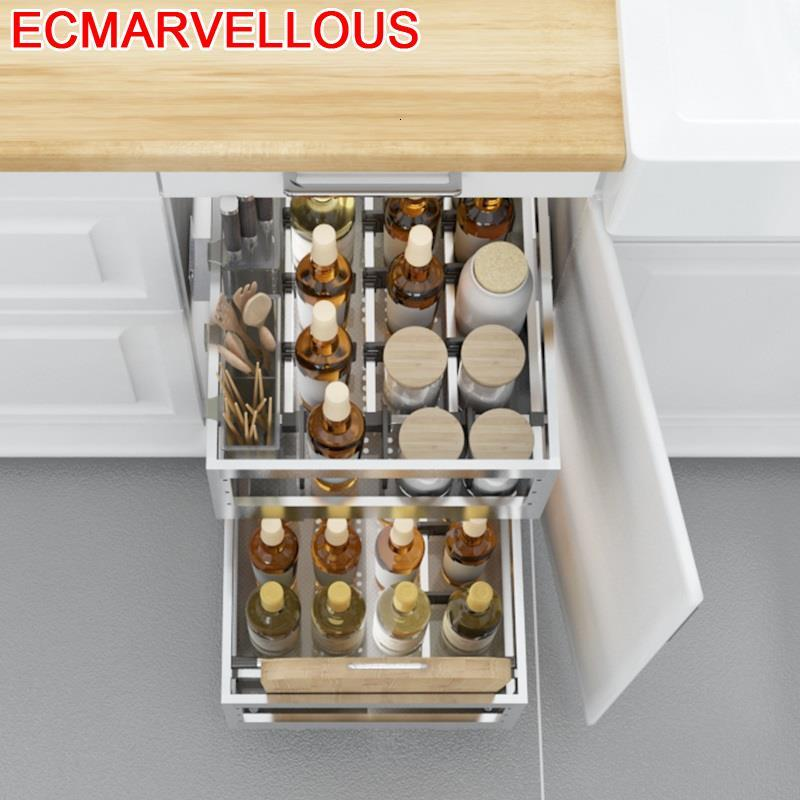 Drawer For Cestas Para Alacena Organizar Cupboard Keuken Stainless Steel Cuisine Rack Organizer Kitchen Cabinet Storage Basket