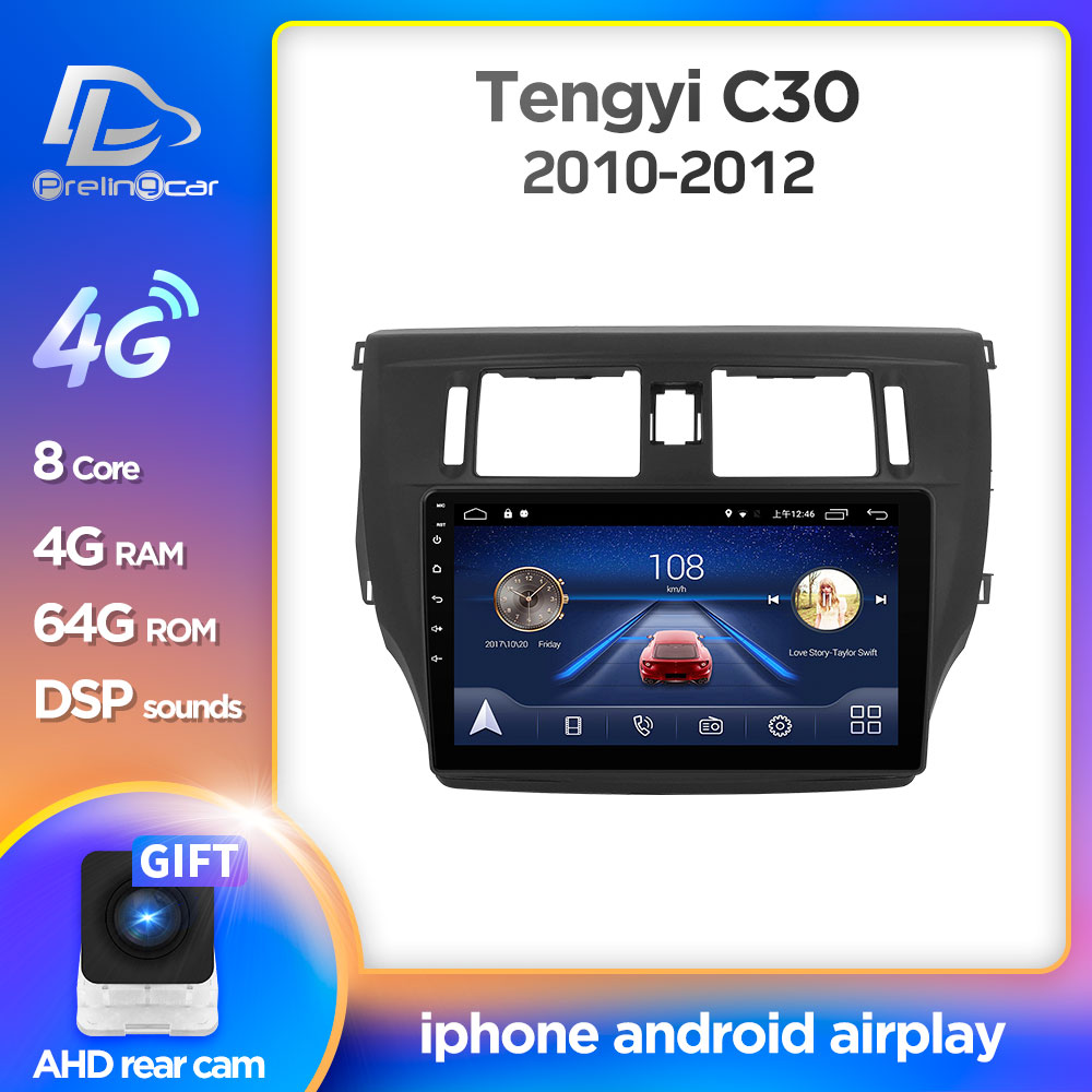 Prelingcar <font><b>Android</b></font> 9.0 For Great Wall Voleex Tengyi C30 2010-2012 Car <font><b>Radio</b></font> Multimedia Video Player <font><b>GPS</b></font> Navigation NO DVD <font><b>2</b></font> <font><b>Din</b></font> image