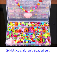 24Grid DIY Handmade Beaded with Accessory Set Children Creative Girl Jewelry Making Toys Educational Arts and Crafts Gift