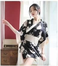 Милое японское кимоно женские комплекты одежды для сна с принтом
