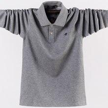 Рубашка поло мужская с длинным рукавом хлопок приталенная повседневная