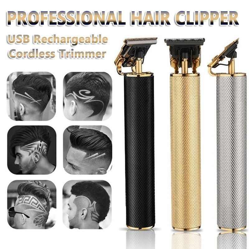 トップ販売ヘアトリマー理髪散髪充電式バリカンコードレスヘア切断機髭トリマー0ミリメートルかみそり男性シェーバー