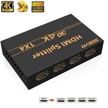 O divisor 4k @ 30hz 3d 1.4 p do divisor 4k hdmi 1x4, divisor do porto hdmi 1080 de sgeyr 4 em 4 para fora o apoio 4k @ 30hz 3d p do divisor para o jogador de ps3/4 blu-ray hdtv