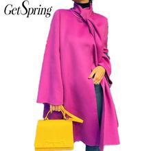 GetSpring Women Trench Coat Temperament Women Long Coat Autumn Thin Windbreaker Simple Long Coat Women Fashion Overcoat 2020 New