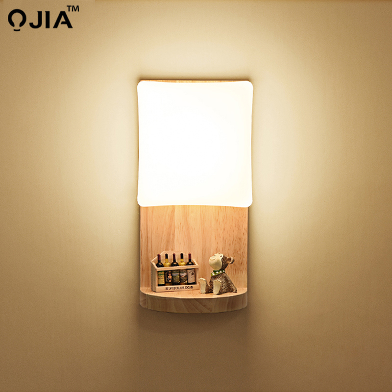 Lampes murales E27 support lampe pour lampes de chevet en bois lumière escalier éclairage décor à la maison 110 V/220 V luminaire