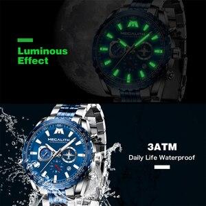 Image 5 - Relógio Do Esporte Dos Homens Relogio masculino 2020 MEGALITH Aeronaves Ponteiro Calendário Data Mens Relógios De Luxo À Prova D Água Relógio de Quartzo Gents