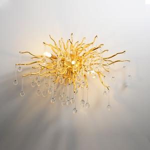 Image 3 - G9 קריסטל יוקרה LED קיר אור זהב נורדי טלוויזיה רקע קיר מנורה שליד המיטה השינה מסעדת קיר פמוטים AC90V  260 V