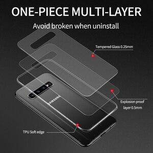 Image 2 - IHaitun luksusowe szklane etui do Samsung S10 Plus S10e etui Ultra cienka przezroczysta tylna pokrywa do Samsung Galaxy S10 + miękka krawędź