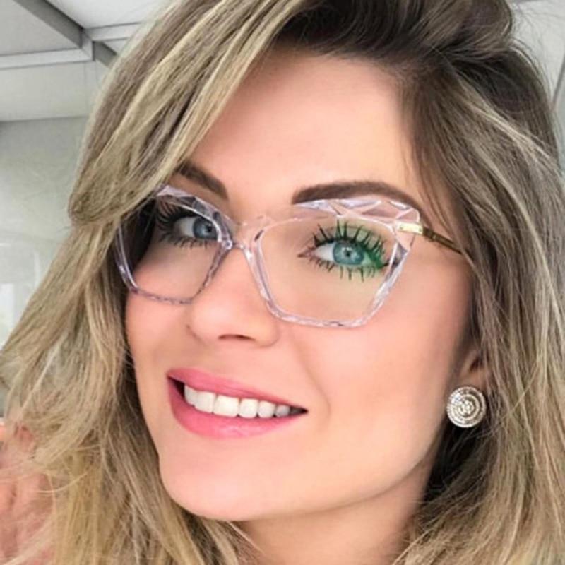 Brand Designer Transparent Sunglasses For Women Vintage Big Frame Rectangle Sun Glasses Fashion Female Clear Lens Oculos De Sol