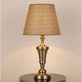 European style table lamp bedside lamp high grade hotel guest room living room study bedroom desk lamp faric table light chinese led ceramic table lamp indoor decor table light lighting loft bedside bedroom living room hotel villa desk lamp luster