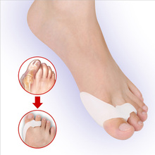 2PCS Silicone Gel Thumb Corrector Bunion Little Toe Protector Separator Hallux Valgus Finger Straightener Foot Care Relief Pads