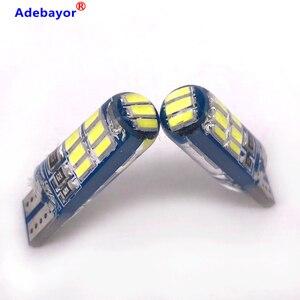 Image 4 - 600x 새로운 자동차 T10 4014 15 LED 전구 W5W 194 화이트 실리콘 15SMD 자동차 인테리어 전구/번호판 라이트 독서 라이트 실리카 get