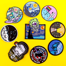 Gorilla Patch Van Gogh Embroidered Patches For Clothing T-Shirt Cartoon Patch Iron On Patches For Clothes DIY Sticker On Clothes prajna van gogh patch military biker patch punk applique iron on embroidered patches for clothes stripes stickers on clothes diy
