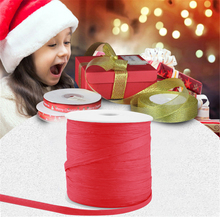 1 Roll Waterproof Nylon Paper Ribbon 1/4 inch Width 229 Yards Craft Packing Twine String for Christmas Decoration