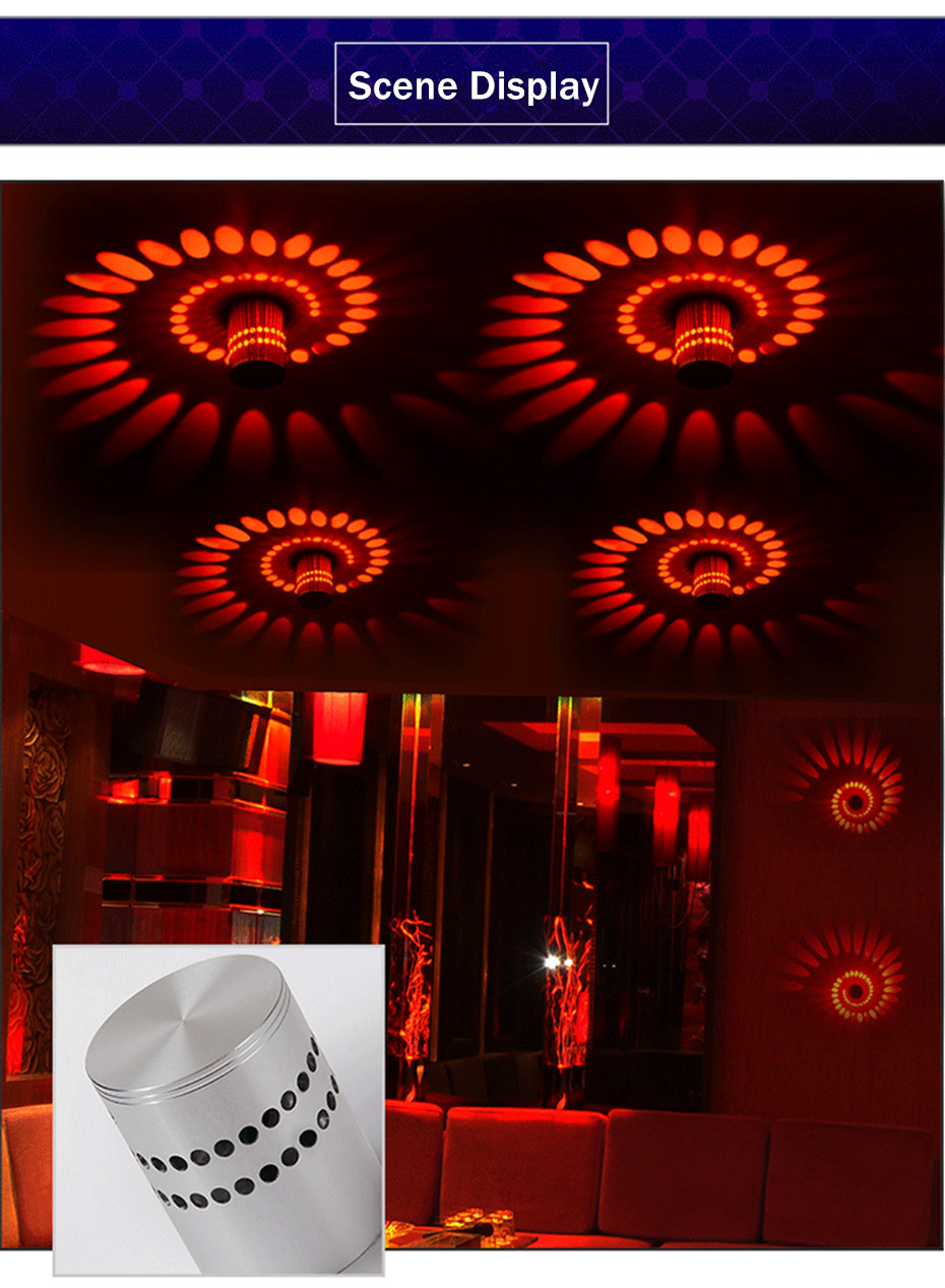 H9945cac632424ec1a712eb5072ef0e44H Modern LED Ceiling Light 3W RGB Porch Lamp Surface Mount Flush Lighting Fixture Balcony Corridors Living Room Decor