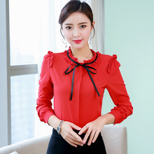 Women Blouses Korean Fashion Woman Bow Blusas Mujer De Moda 2019 Elegant Shirts Womens Tops and Harajuku