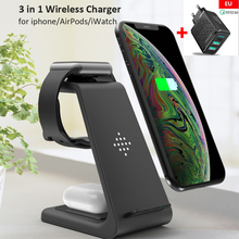 3 in 1 10W Fast Wireless Charger For AirPods iPhone 11 Pro/Xr/Xs Max Apple Watch 2 3 Fast Wireless Charging Stand for iWatch 5 4