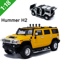 Latest style 1:18 scale alloy die casting H2 SUV road car model metal children's toy souvenir collection gift collection