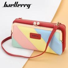 Purse Clutch Panelled Crossbody-Bag Messenger Handbag Pocket Multi-Function Women Female